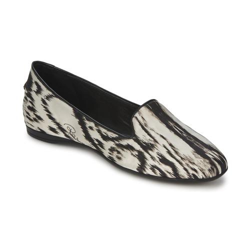 Shoes Women Ballerinas Roberto Cavalli XPS280-FLA35 Beige / Black