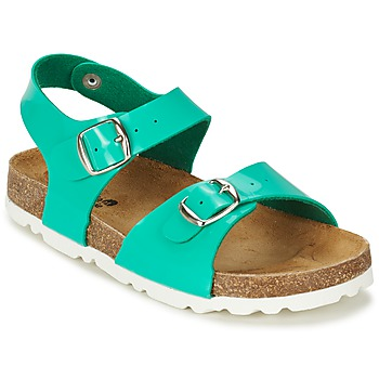 Shoes Girl Sandals Citrouille et Compagnie RELUNE TURQUOISE / Charol