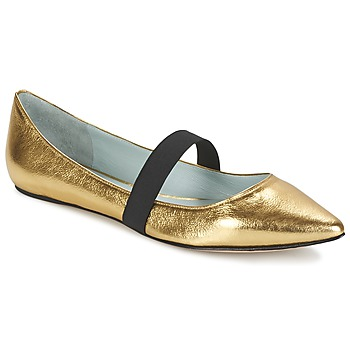 Shoes Women Ballerinas Marc Jacobs HALSEY Gold