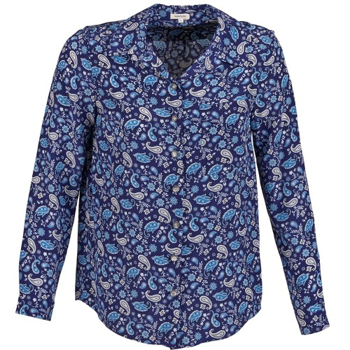 material Women Shirts Manoush BANDANA SILK Blue