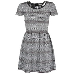 material Women Short Dresses Manoush BIJOU ROBE Black / Grey