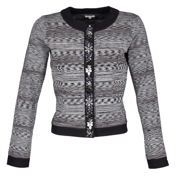 material Women Jackets / Blazers Manoush BIJOU VESTE Black / Grey