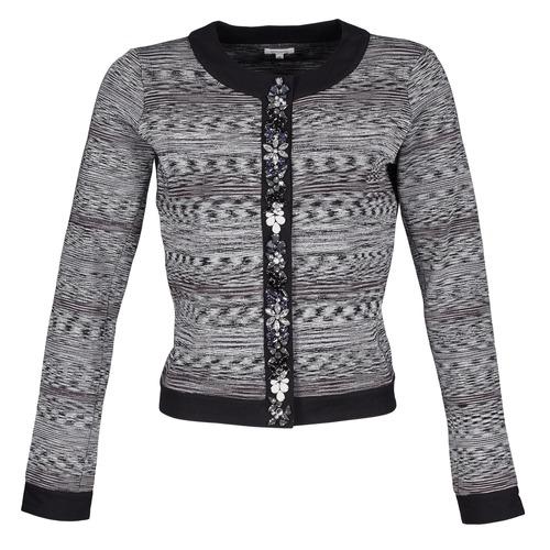 material Women Jackets / Blazers Manoush BIJOU VESTE Black / Grey
