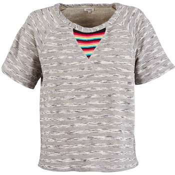 material Women short-sleeved t-shirts Manoush ETNIC SWEAT Grey