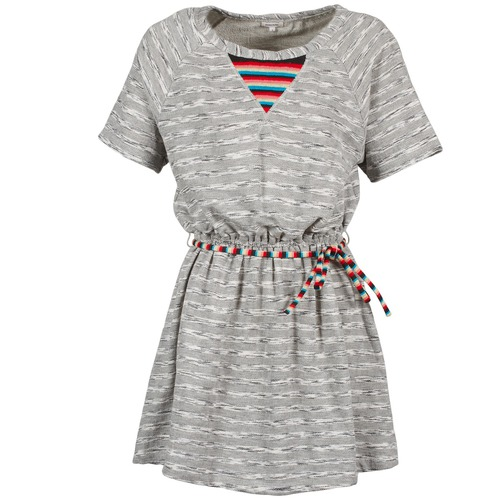 material Women Short Dresses Manoush ETNIC Grey