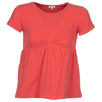 material Women short-sleeved t-shirts Manoush MOLLETON Coral