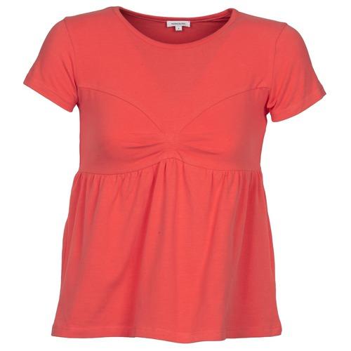 material Women short-sleeved t-shirts Manoush MOLLETON Coral