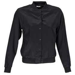 material Women Jackets / Blazers Manoush TEDDY FLEUR SIATIQUE Black