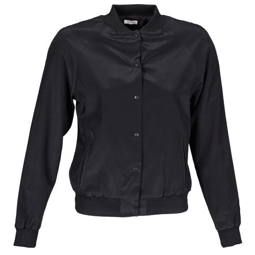 material Women Jackets / Blazers Manoush TEDDY FLEUR SIATIQUE Black