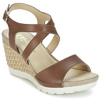 Shoes Women Sandals Lumberjack SISSI Brown / Beige