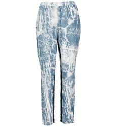material Women Wide leg / Harem trousers Vila GRUNGE ME Blue / White