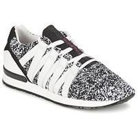 Shoes Women Low top trainers Serafini MIAMI Black / White