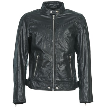 material Men Leather jackets / Imitation leather Diesel L-REED Black