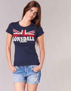 material Women short-sleeved t-shirts Lonsdale ERYKAH Blue