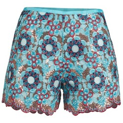 material Women Shorts / Bermudas Manoush FRESQUE Blue