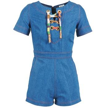 material Women Jumpsuits / Dungarees Manoush LACET Blue / Jean