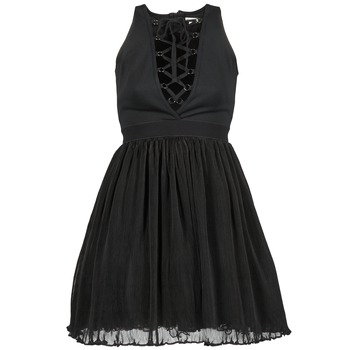 material Women Short Dresses Manoush MARILACET Black