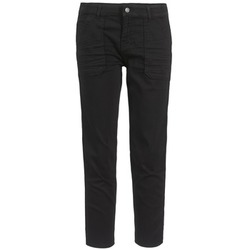 material Women cropped trousers Cimarron CLAUDIE Black