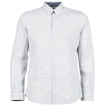 material Men long-sleeved shirts Tom Tailor MARCHALO White / MARINE