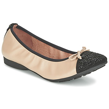 Shoes Women Ballerinas Mam'Zelle NUPO Beige / Black