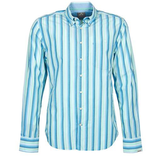 material Men long-sleeved shirts Gaastra SUMMERJAM Blue / White