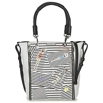 Bags Women Shoulder bags Barbara Rihl SARAH IN BONIFACIO ZIPPER MED White / Black