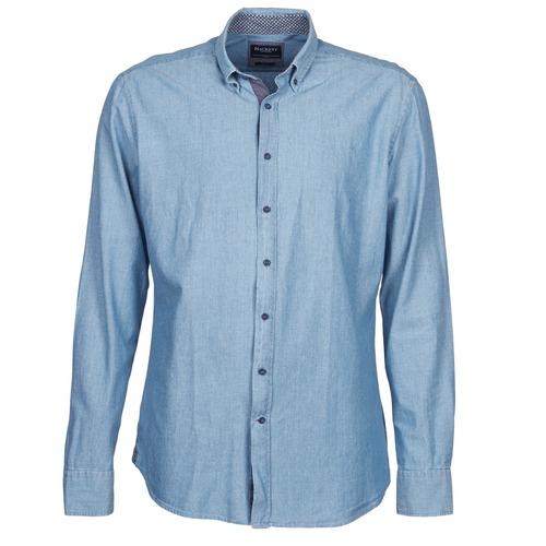 material Men long-sleeved shirts Hackett RILEY Blue