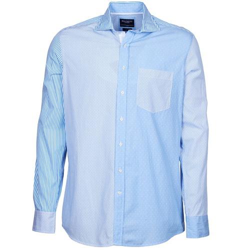 material Men long-sleeved shirts Hackett GORDON Blue