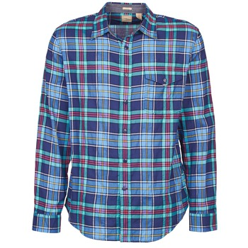 material Men long-sleeved shirts Dockers THE TWILL WRINKLE SHIRT Blue