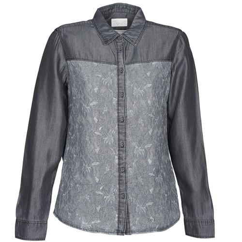 material Women Shirts Esprit Denim Blouse Grey