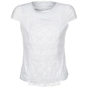 material Women short-sleeved t-shirts Alba Moda BLUSENTOP White