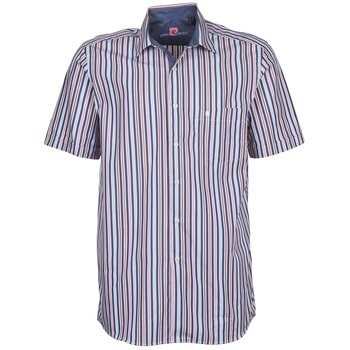 material Men short-sleeved shirts Pierre Cardin 514636216-184 Blue / Pink