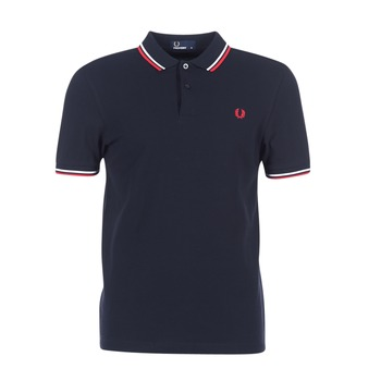 material Men short-sleeved polo shirts Fred Perry SLIM FIT TWIN TIPPED Marine