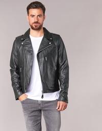 material Men Leather jackets / Imitation leather Schott LEVOQ Black