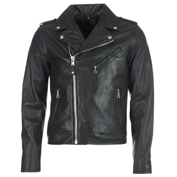material Men Leather jackets / Imitation leather Schott LEVOQ Black
