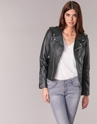 material Women Leather jackets / Imitation leather Schott SIMOUDE Black