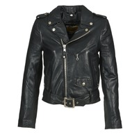 material Women Leather jackets / Imitation leather Schott GUELINE Black
