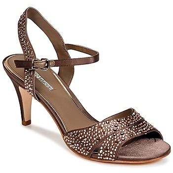 Shoes Women Sandals Luciano Barachini MACCHIE Taupe