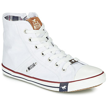 Shoes Women High top trainers Mustang GALLEGO White