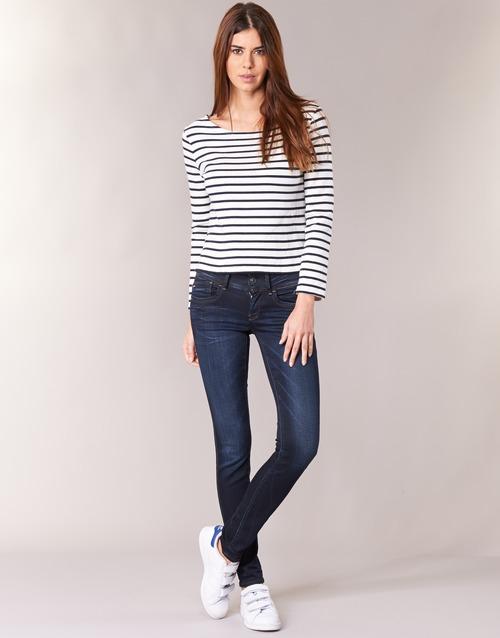 material Women Skinny jeans G-Star Raw LYNN MID SKINNY Slander / Blue / Superstretch / Medium / Aged