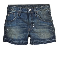 material Women Shorts / Bermudas G-Star Raw ARC BF RIPPED SHORT WMN Blue / Dark