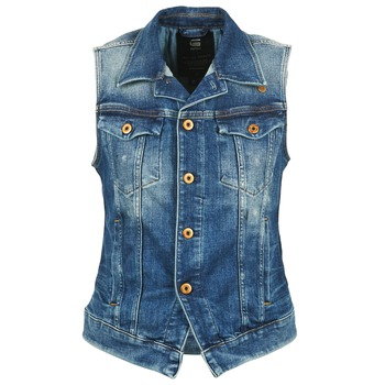 material Women Denim jackets G-Star Raw 3302 JKT S/LESS WMN Blue / Clear