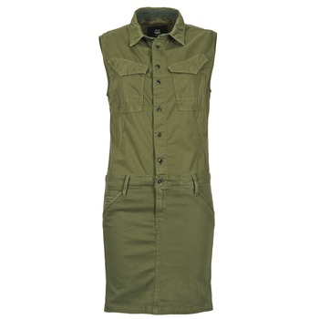material Women Short Dresses G-Star Raw ROVIC SLIM DRESS WMN S/LESS Kaki