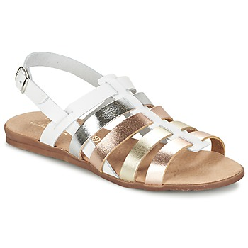 Shoes Girl Sandals Citrouille et Compagnie PEQUEBELLO White / GOLD