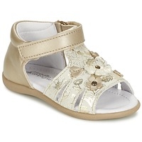 Shoes Girl Sandals Citrouille et Compagnie PAQUETI Beige