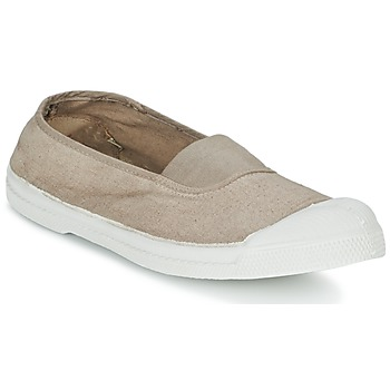Shoes Women Ballerinas Bensimon TENNIS ELASTIQUE BEIGE