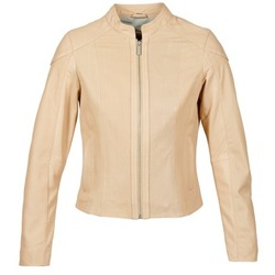 material Women Leather jackets / Imitation leather Oakwood 61848 BEIGE / Nude