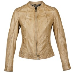 material Women Leather jackets / Imitation leather Oakwood 61712 Brown