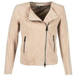 material Women Leather jackets / Imitation leather Oakwood 61903 Pink / Clear
