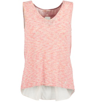 material Women Tops / Sleeveless T-shirts Les P'tites Bombes NODOLA CORAL